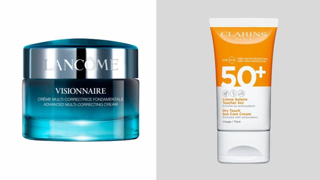 Lancôme Gesichtscreme und Clarins Sonnenschutzpflege im Check
