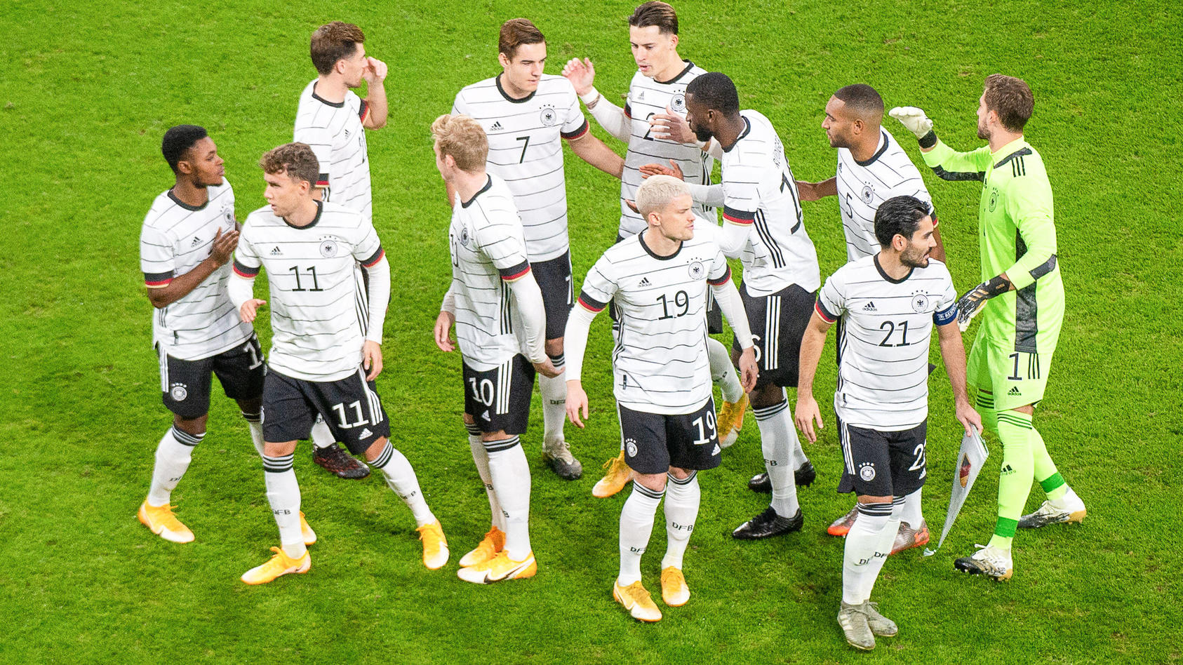 Die deutsche Fußball-Nationalmannschaft.