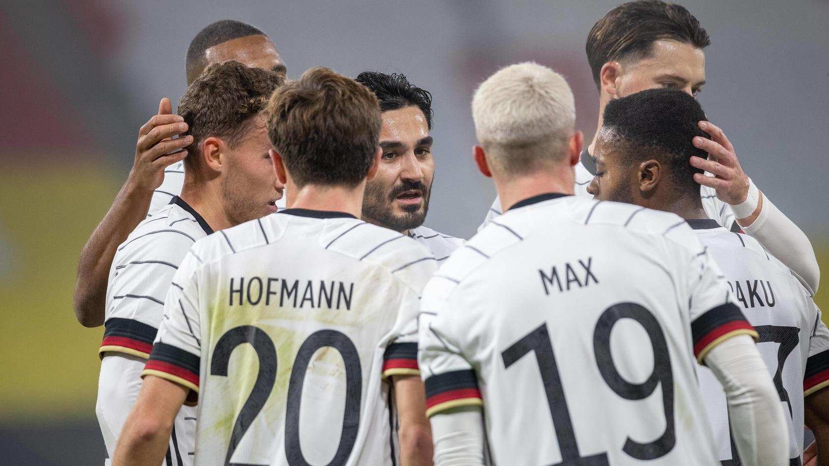 Das deutsche Team bejubelt den Führungstreffer