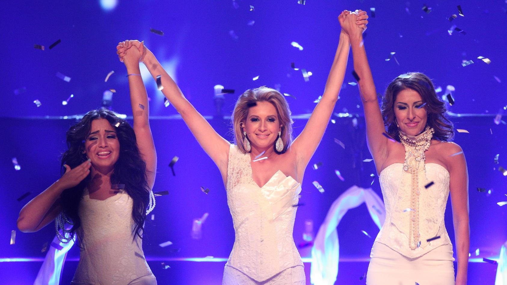 """Ein Bild aus glücklichen Zeiten: Bahar Kizil, Mandy Capristo und Senna Gammour stürmten Ende 2006 als """"Monrose"""" die Charts."""