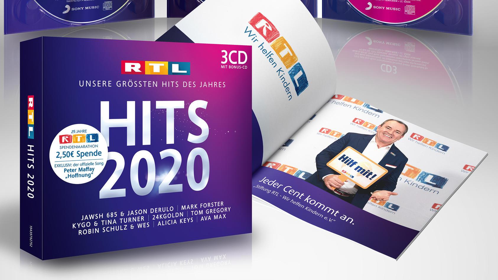 RTL HITS 2020 – Die größten Hits des Jahres mit  RTL-Spendenmarathon Bonus-CD