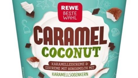 Auf der Packung steht Caramell Coconut - im Becher ist allerdings eine andere Sorte.
