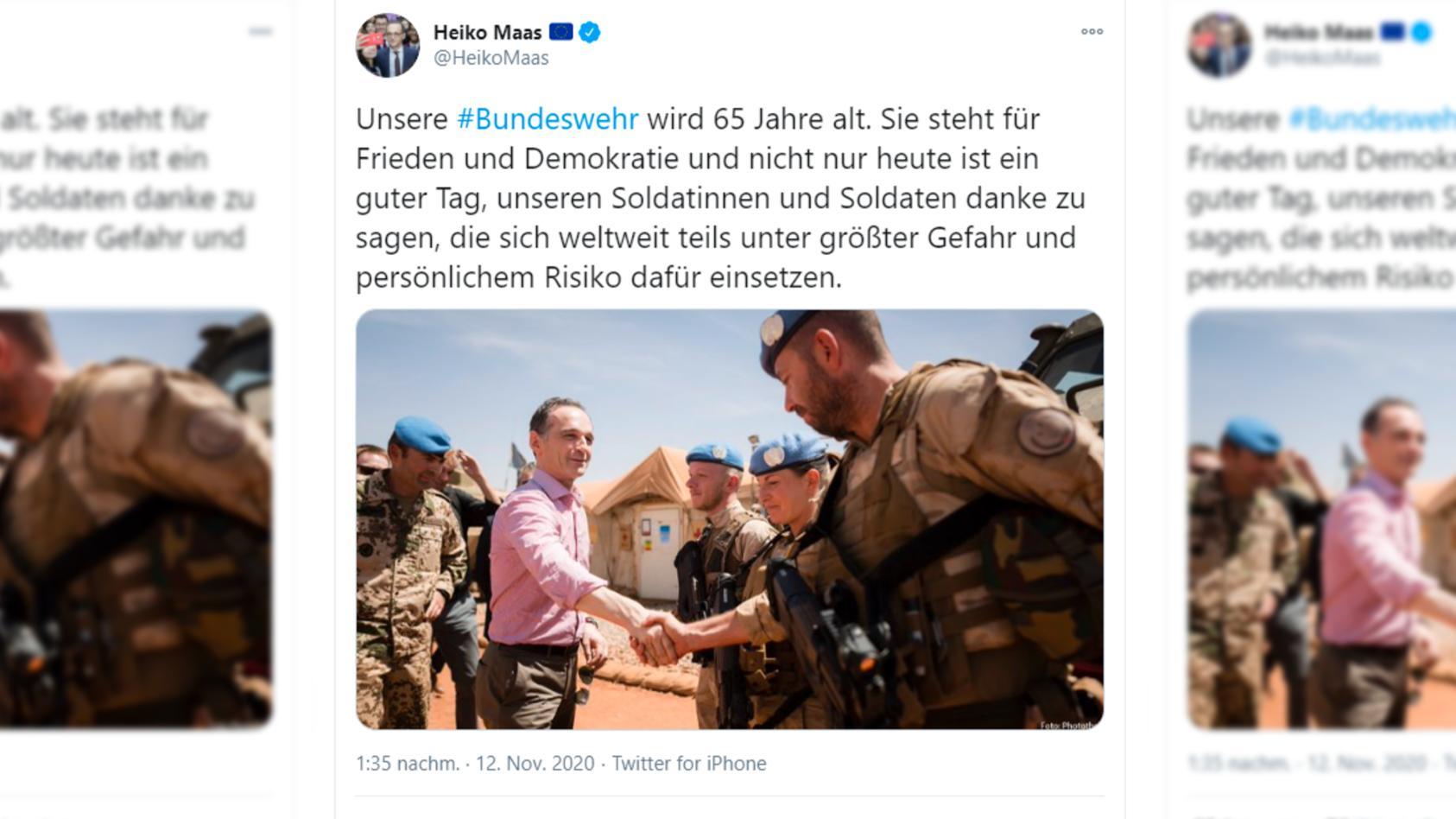 Der Post von Heiko Maas wurde mittlerweile gelöscht