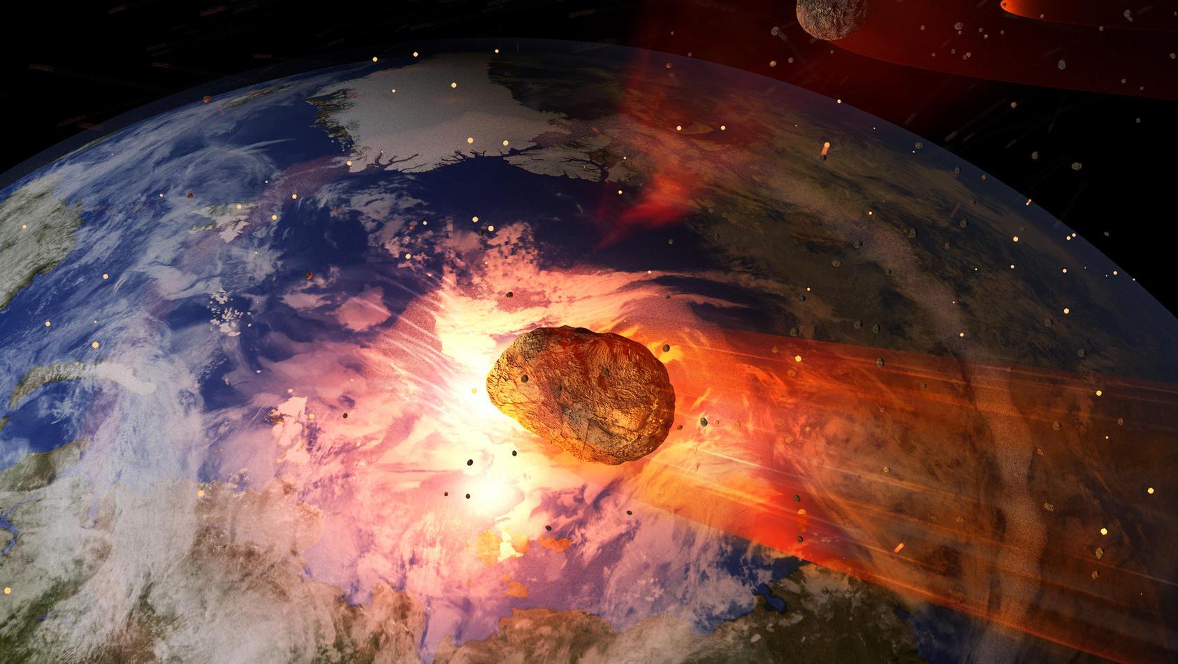 Die Nasa führt eine Liste mit Asteroiden, deren Wahrscheinlichkeit mit der Erde zu kollidieren, groß ist.
