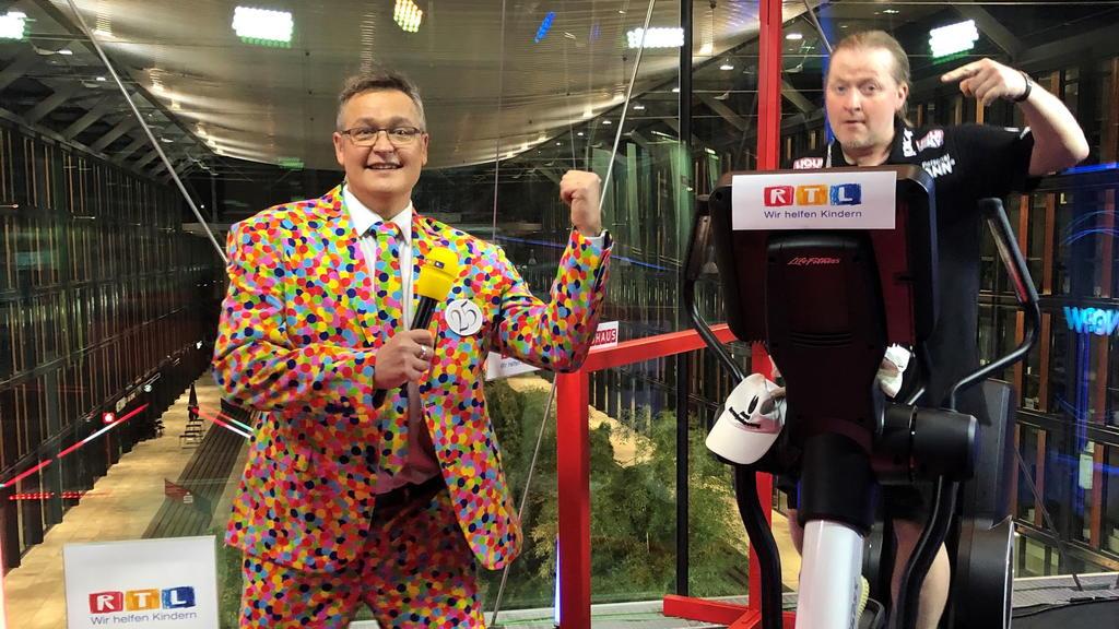 Joey Kelly und Bernd Fuchs beim 25. RTL-Spendemarathon