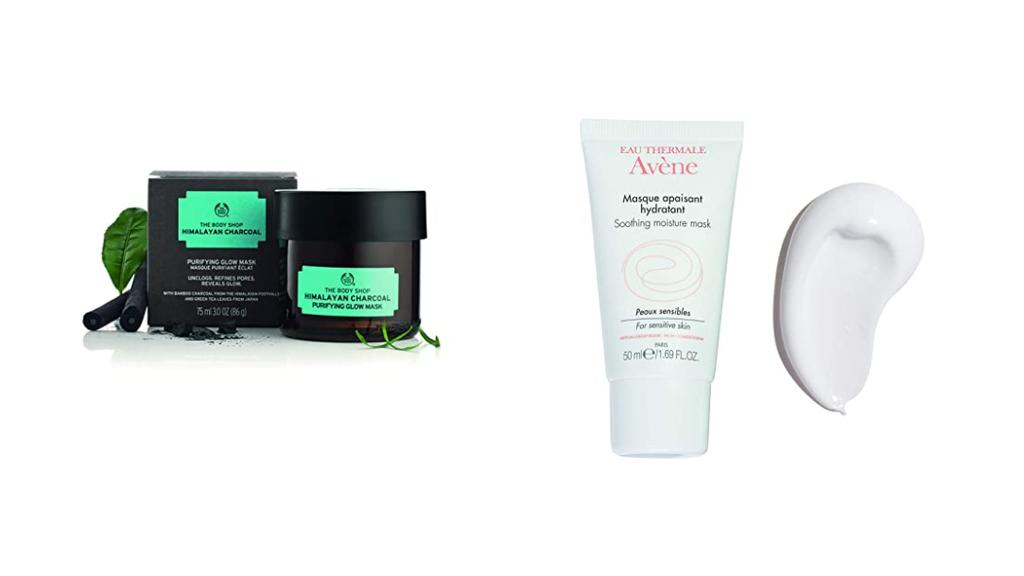 Gesichtsmasken für trockene und fettige Haut.