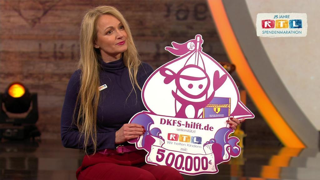 Die Deutsche Kinderhospiz- und Familienstiftung (DKFS) spendet 500.000 Euro.