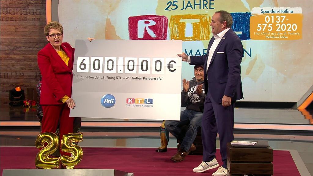 600.000 Euro spendet Procter & Gamble für den RTL-Spendenmarathon.
