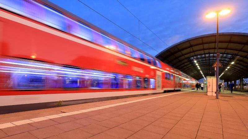 Ein Regionalzug im Hauptbahnhof von Halle/Saale. Foto: Peter Gercke/zb/dpa/Archivbild