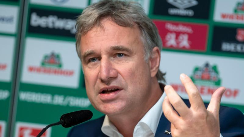 Marco Bode, Aufsichtsratschef von Fußball-Bundesligist Werder Bremen, spricht bei einer Pressekonferenz. Foto: Sina Schuldt/dpa/Archivbild