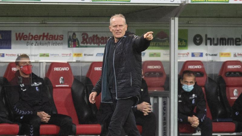 Freiburgs Trainer Christian Streich. Foto: Tom Weller/dpa/Archivbild