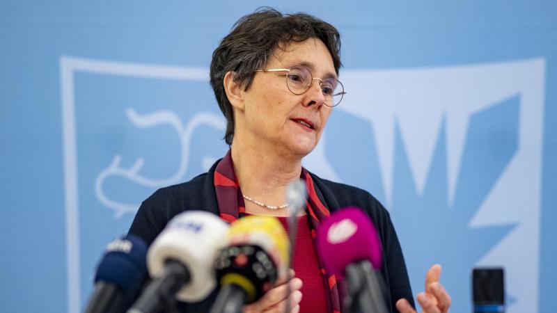 Monika Heinold (Bündnis 90/Die Grünen), Schleswig-Holsteins Finanzministerin, spricht. Foto: Axel Heimken/dpa
