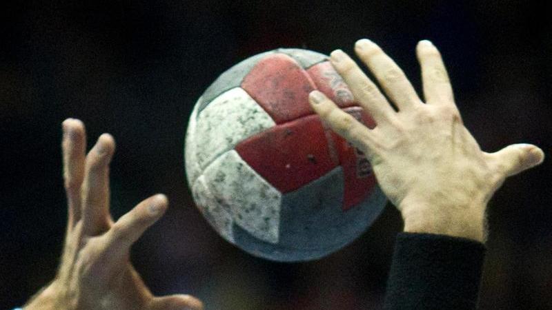 Handball-Spieler in Aktion. Foto: Jens Wolf/dpa-Zentralbild/dpa/Symbolbild