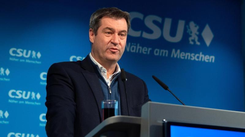 Markus Söder (CSU), Parteivorsitzender und Ministerpräsident von Bayern, spricht. Foto: Sven Hoppe/dpa/Archivbild