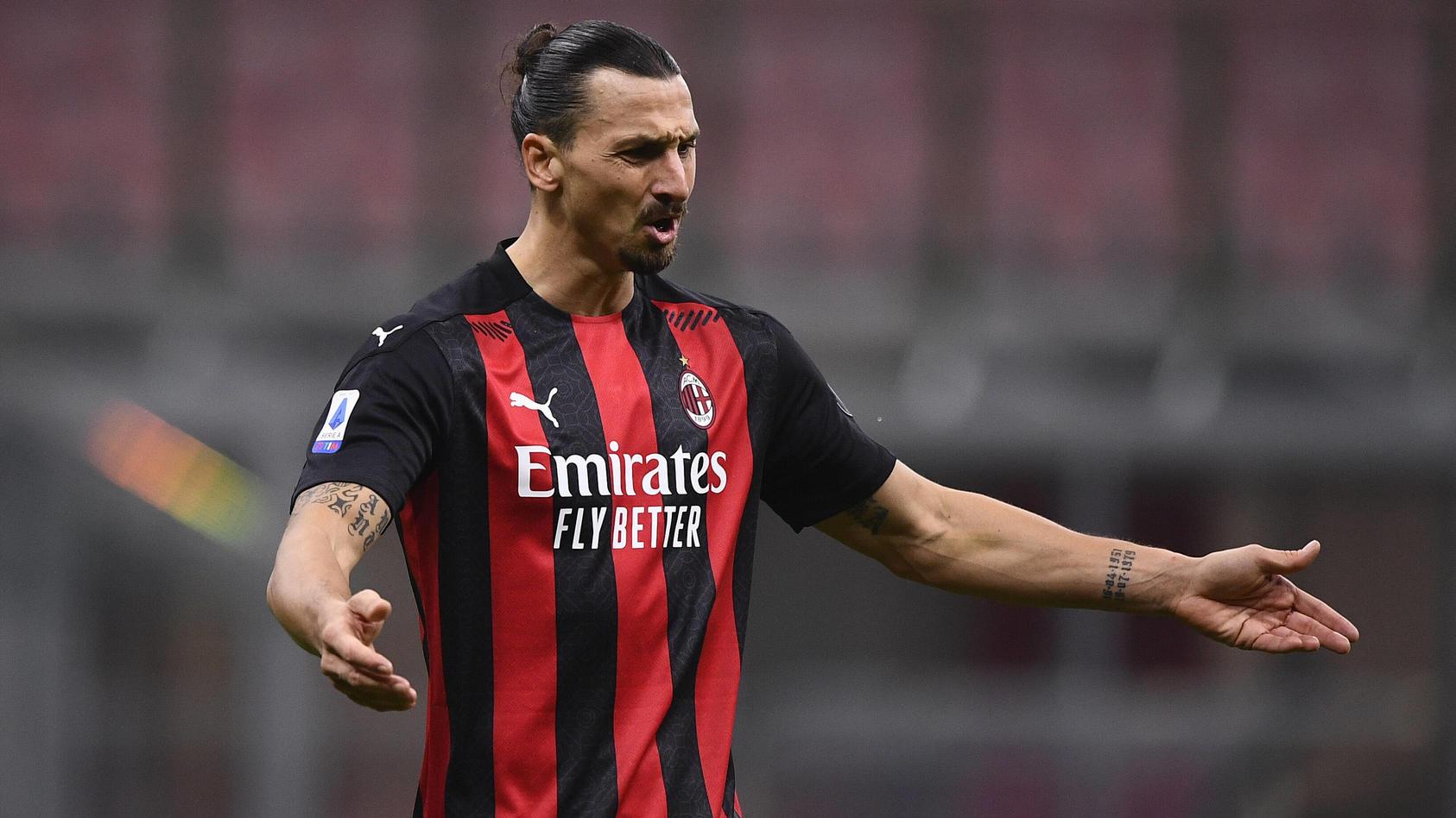 Zlatan Ibrahimovic im Trikot des AC Mailand.