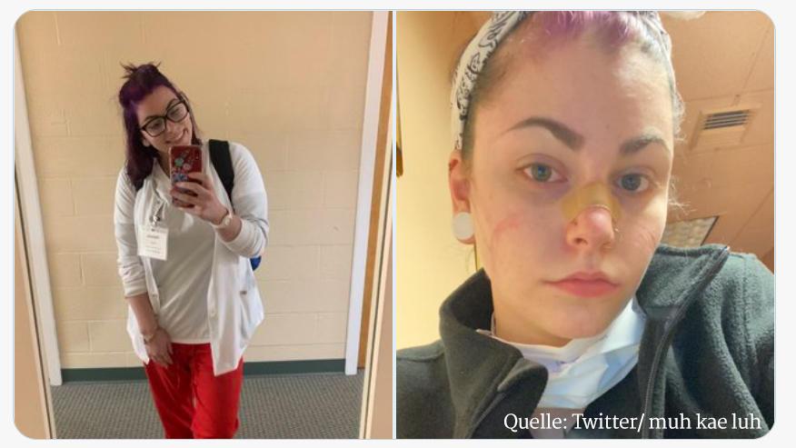 Corona, Krankenschweester, Selfie, Twitter