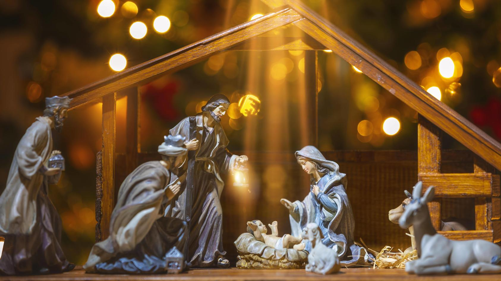 Maria und Joseph mit Jesus Christus.