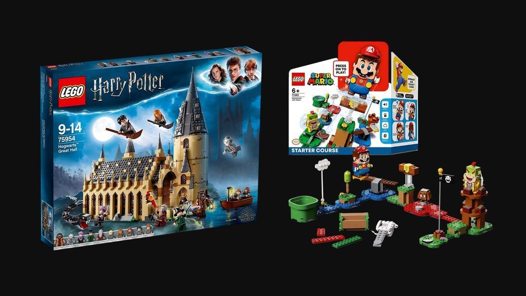 Leg: Super Mario Abenteuer-Set und Harry Potter Die Große Halle