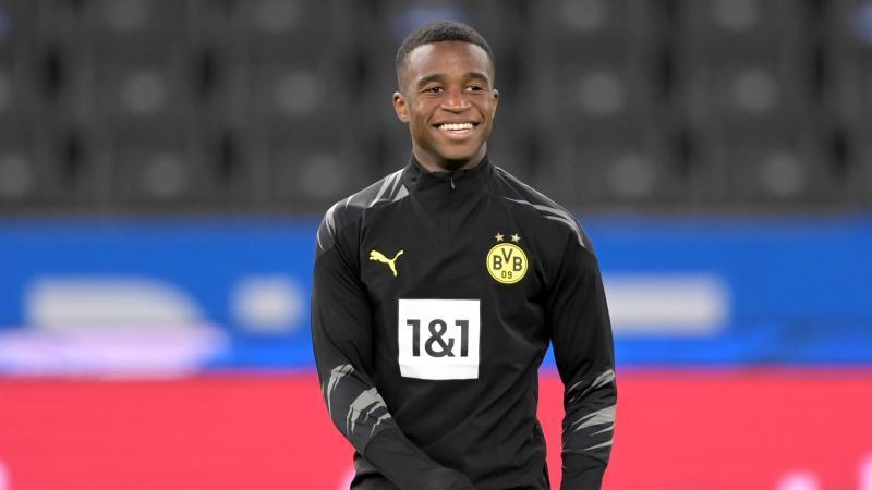 Dortmunds Spieler Youssoufa Moukoko. Foto: Soeren Stache/dpa-Zentralbild/ZB/Archivbild