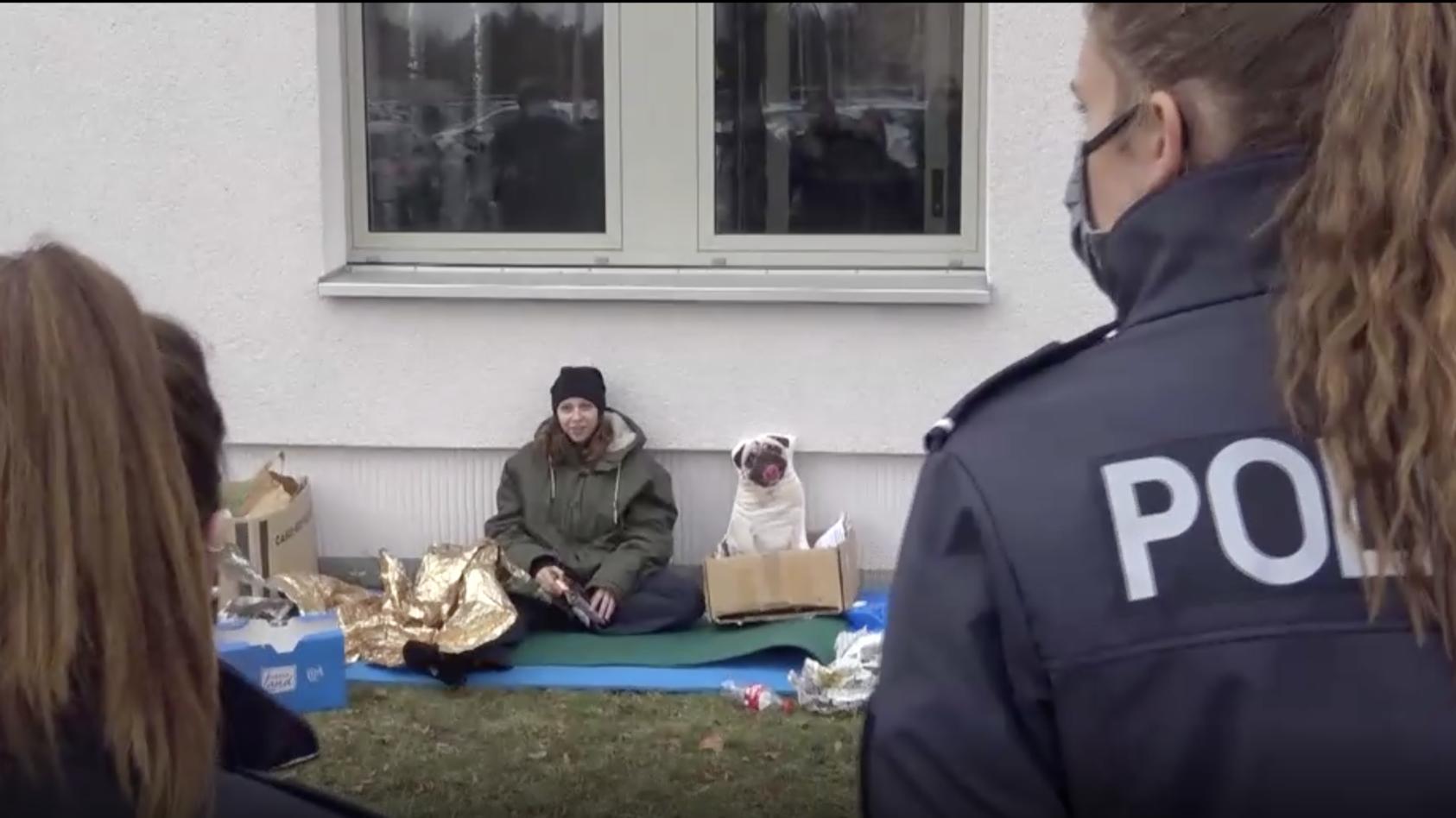 Praxistraining der Polizei-Anwärter in Brandenburg.