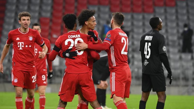 Der FC Bayern machte gegen Salzburg den vorzeitigen Achtelfinal-Einzug perfekt. Foto: Sven Hoppe/dpa