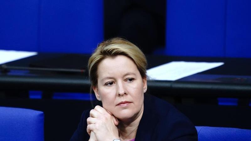 Bundesfamilienministerin Franziska Giffey. Foto: Kay Nietfeld/dpa