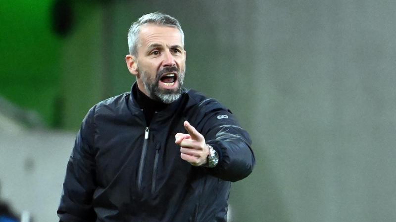 Marco Rose, Trainer von Borussia Mönchengladbach. Foto: Federico Gambarini/dpa/Archiv
