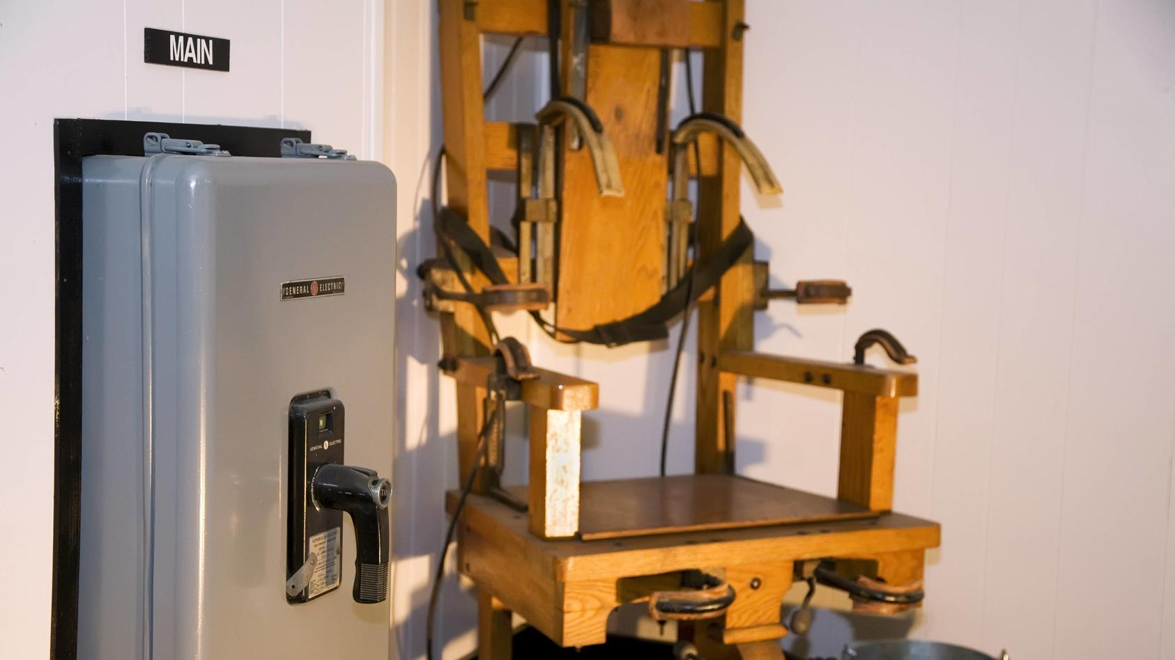 Elektrischer Stuhl im ehemaligen Gefängnis West Virginia Penitentiary in Moundsville (iblwes01056813)