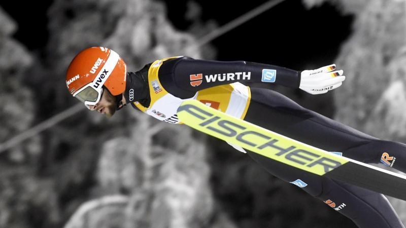 Markus Eisenbichler hat auch das zweite Weltcup-Springen gewonnen. Foto: Vesa Moilanen/Lehtikuva/dpa