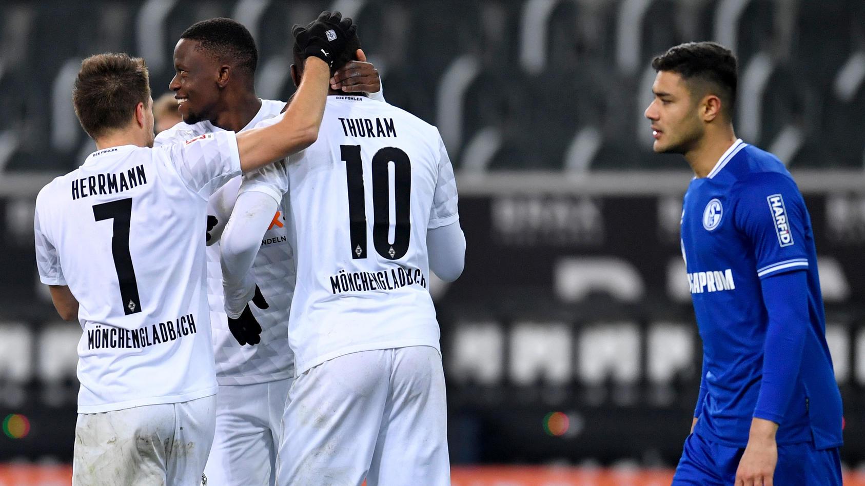 Gladbach-Stürmer Marcus Thuram erzielte das zwischenzeitliche 3:1 gegen Schalke