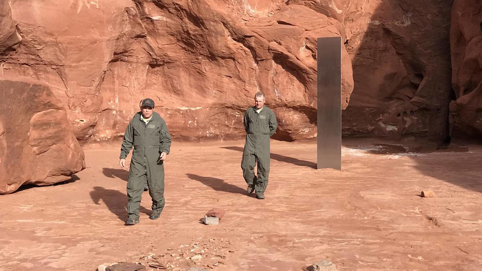 Am 24. November wurde in Utah ein Monolith gefunden.