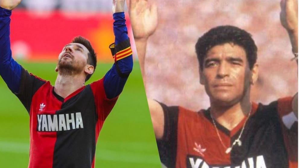 Lionel Messi in stillem (Jubel-)Gedenlken an Landsmann Diego Maradona