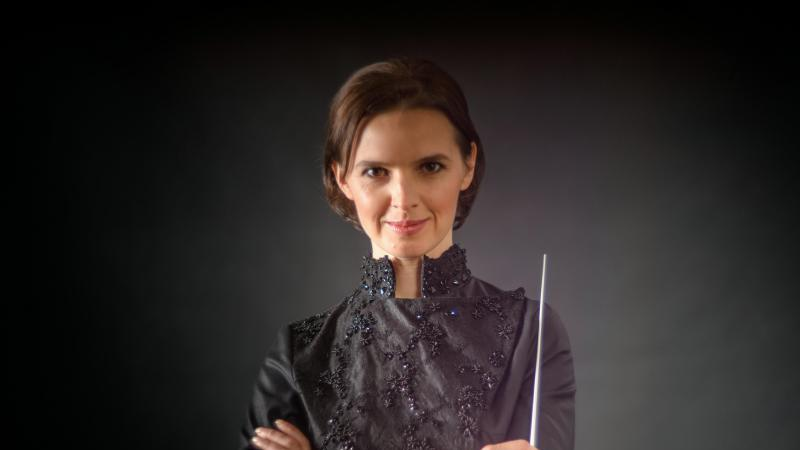 Die Ukrainerin Oksana Lyniv. Foto: Oleh Pavliuchenkov/Oper Graz/dpa