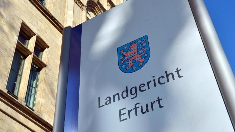 Das Landgericht Erfurt ist von außen zu sehen. Foto: Martin Schutt/dpa-Zentralbild/dpa/Archivbild