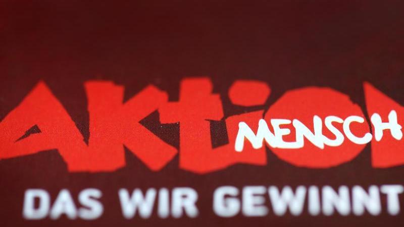 """Der Schriftzug der """"Aktion Mensch"""". Foto: picture alliance / dpa/Archivbild"""