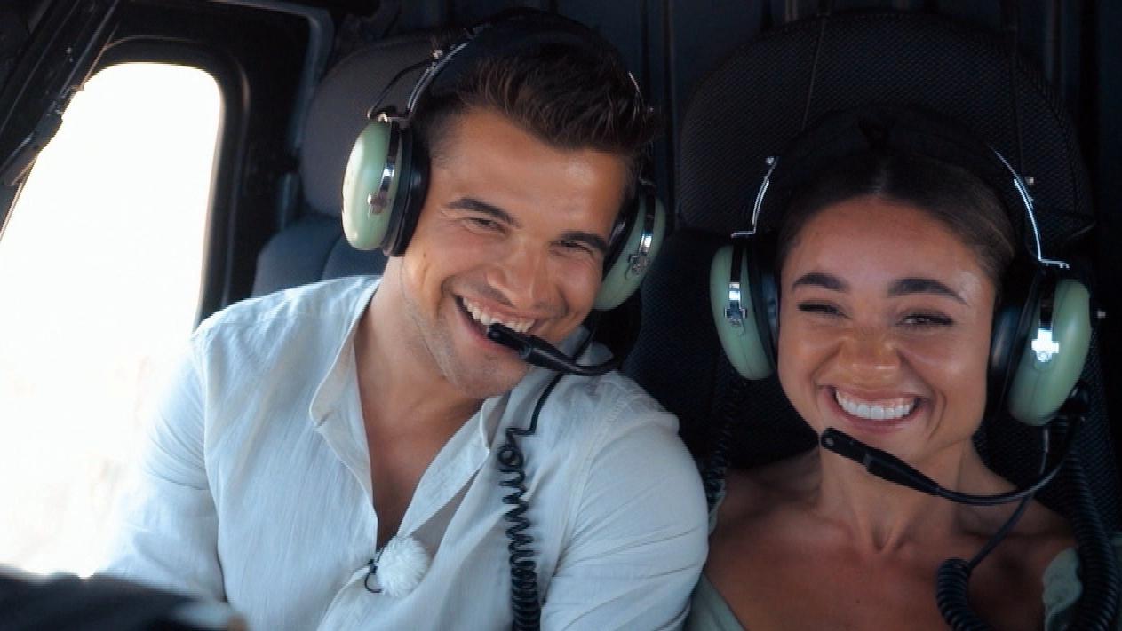 Bachelorette Melissa und Daniel beim Santorini-Rundflug