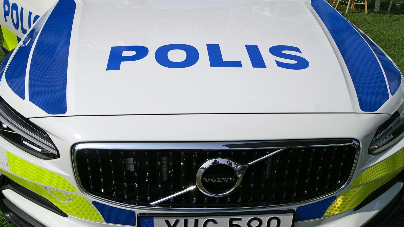Polizei. Schweden Polis. Fahrzeug