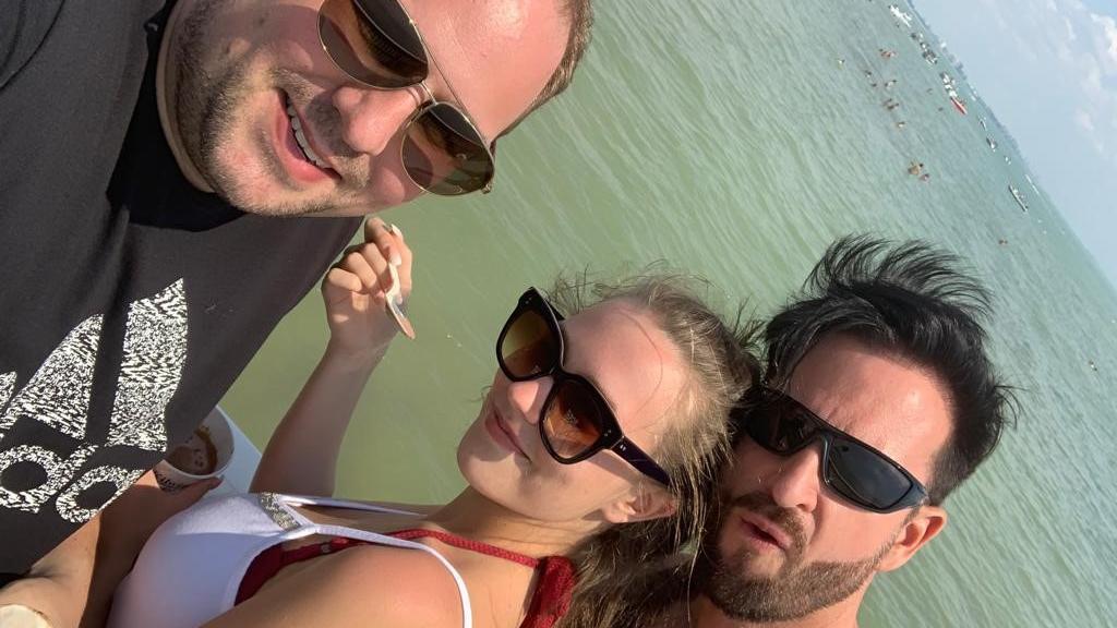 Timo Berger mit Michael Wendler und Laura Müller