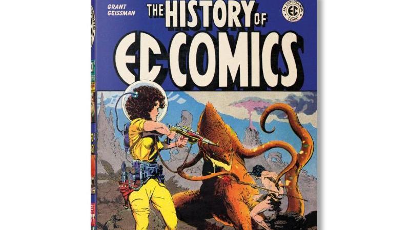"""""""The History of EC Comics"""" von Grant Geissman. Der Bildband erscheint im Taschen Verlag. Foto: --/Taschen Verlag/dpa"""