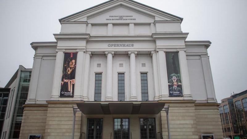 Des Opernhaus vom Theater Magdeburg. Foto: Klaus-Dietmar Gabbert/dpa/Archivbild