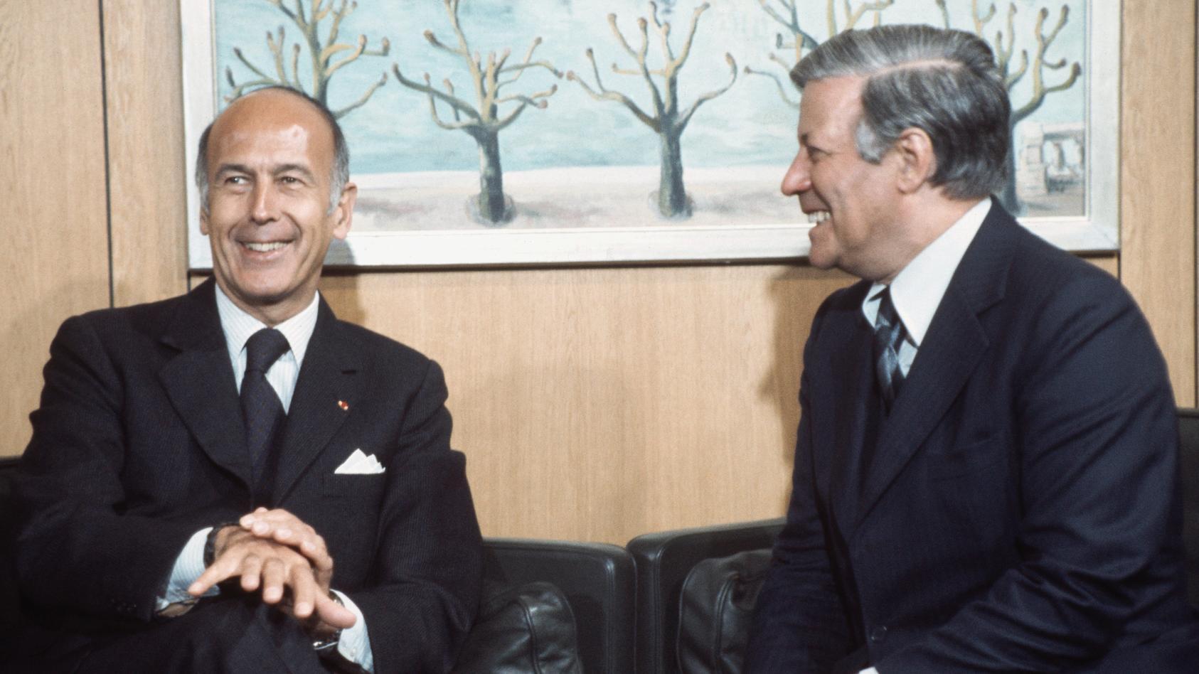 Bundeskanzler Schmidt und Valéry Giscard d'Estaing in Bonn