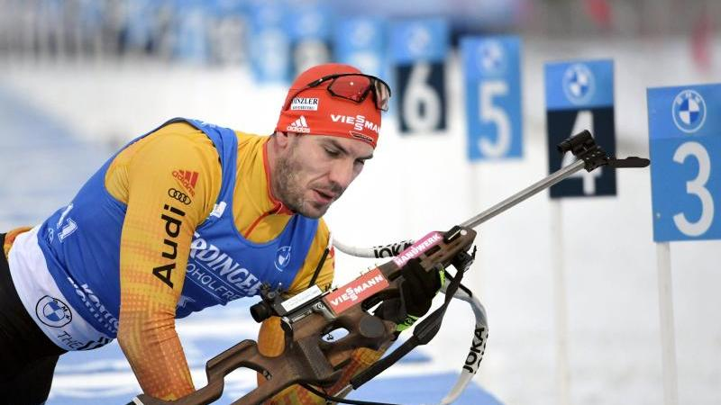 Arnd Peiffer wurde Zweiter im Sprint. Foto: Markku Ulander/Lehtikuva/dpa
