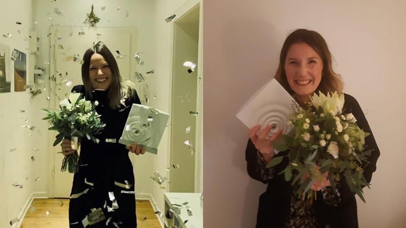 Kim Umlauf und Friederike Gründken haben den Niedersächsischen Medienpreis gewonnen.