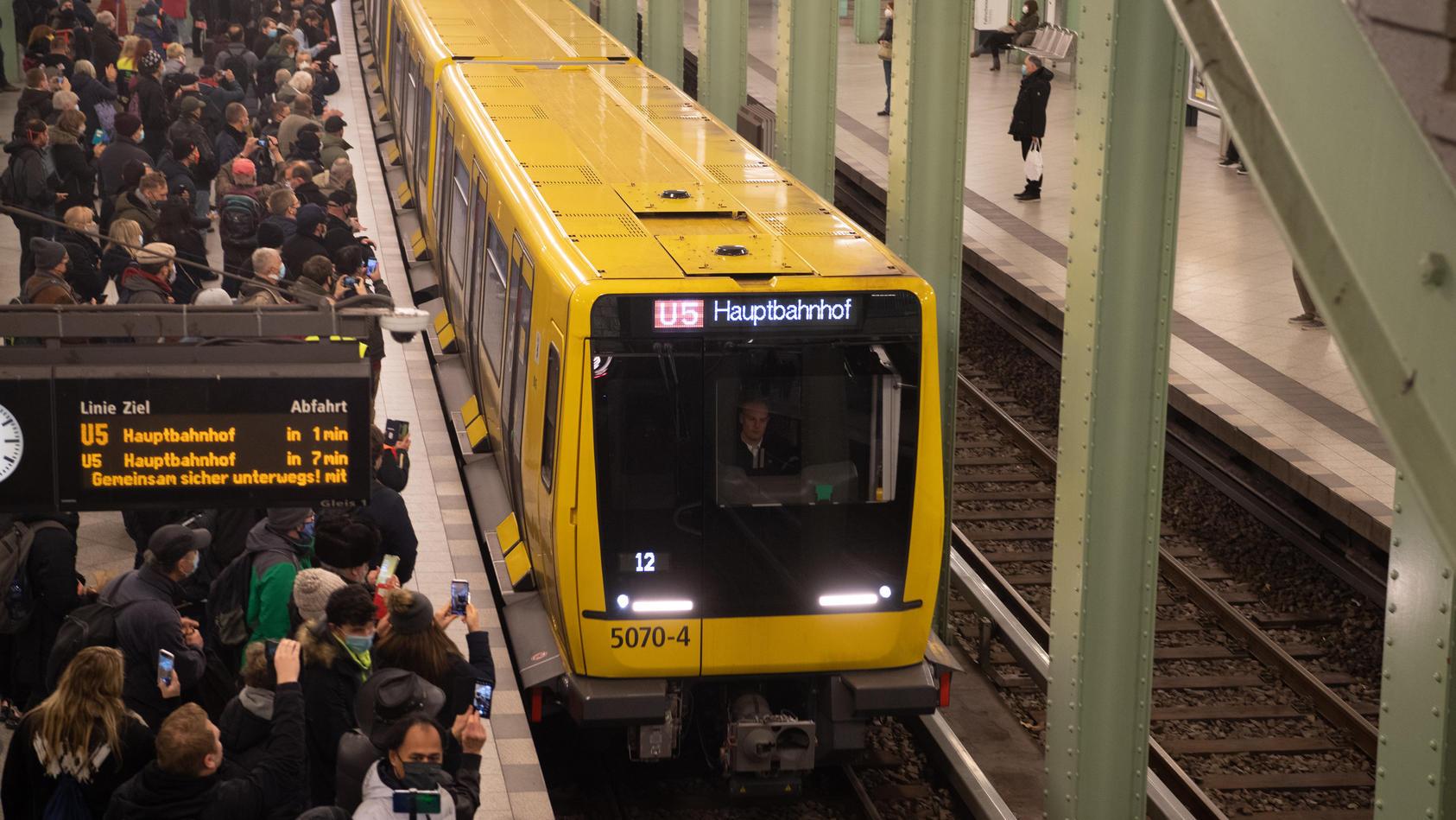 Neue U5-Strecke ist eröffnet
