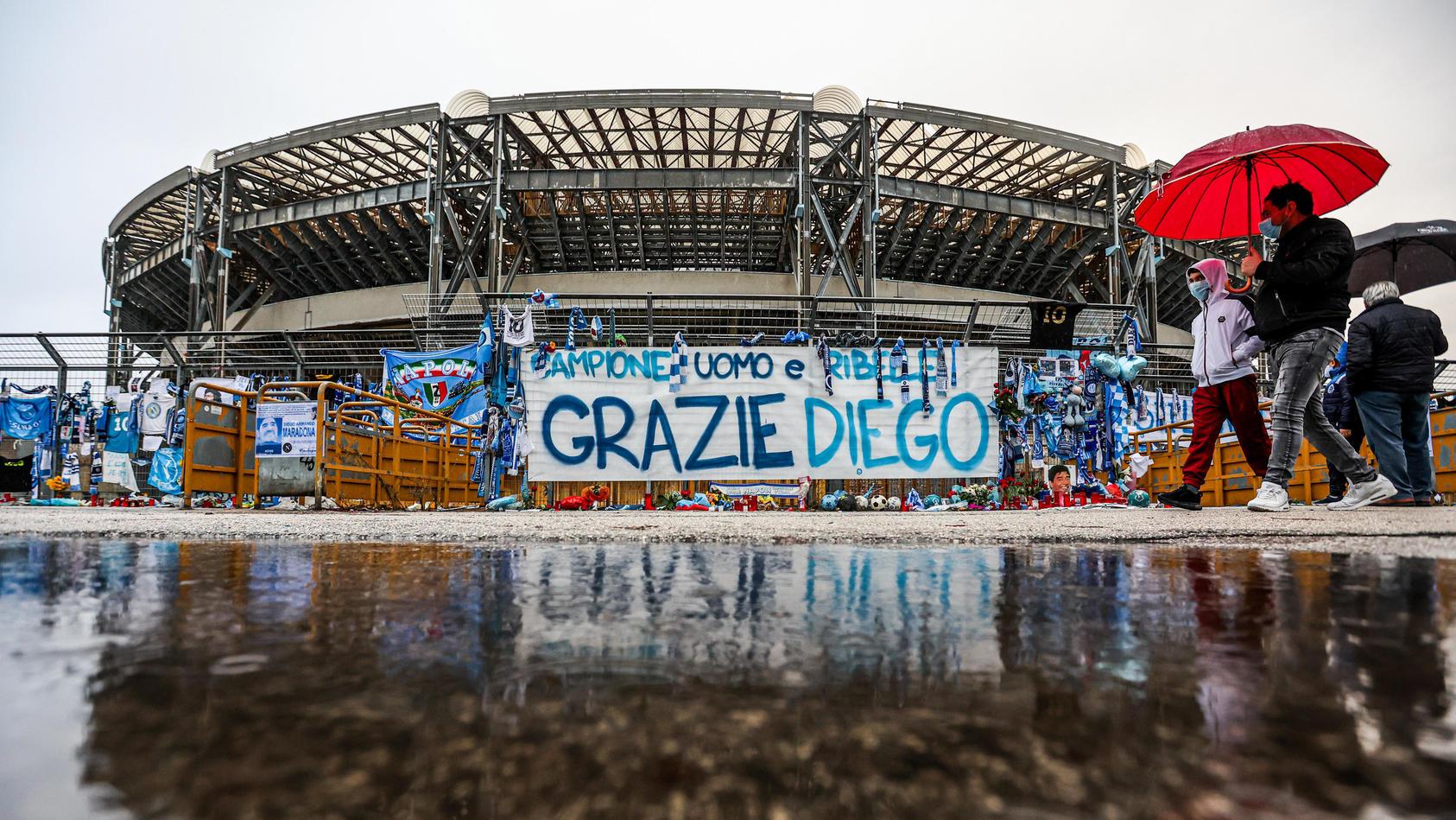Das frühere Stadio San Paolo trägt jetzt Maradonas Namen