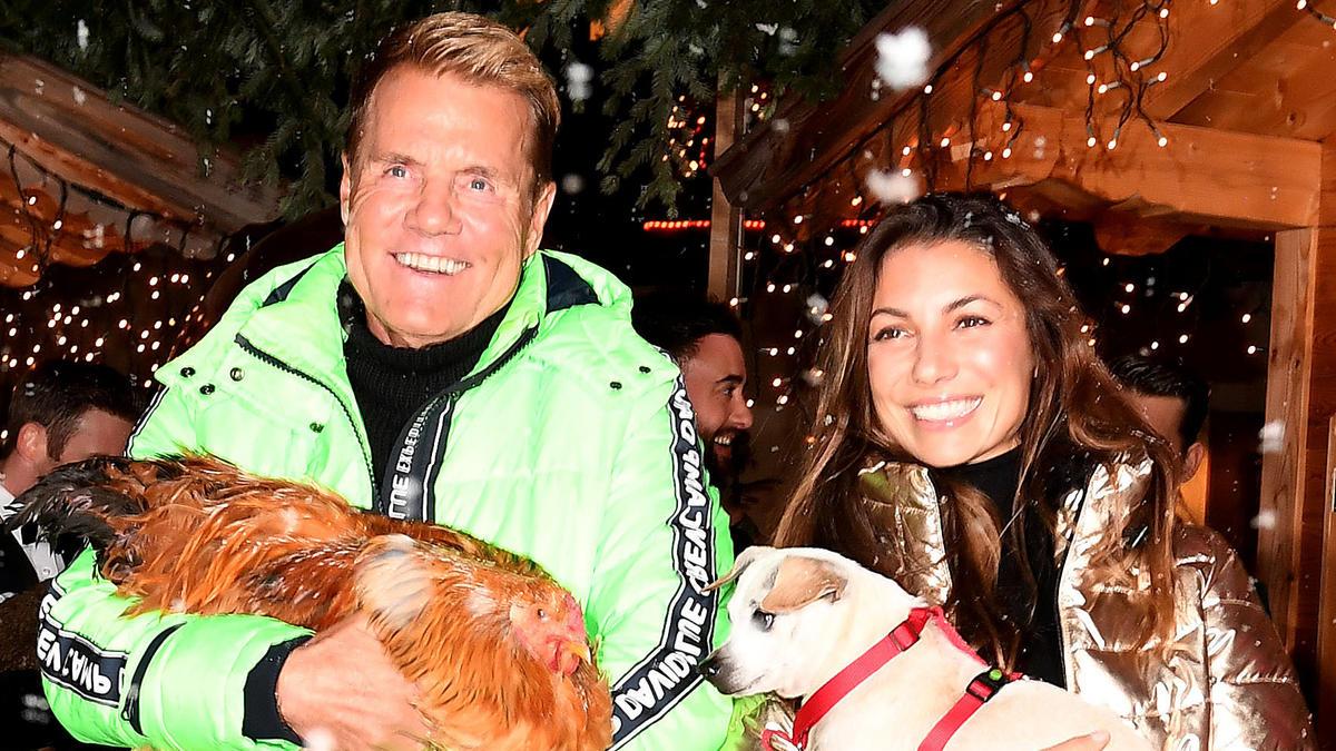 Dieter Bohlen und Carina Walz bei einem Weihnachtsmarkt vergangenes Jahr.