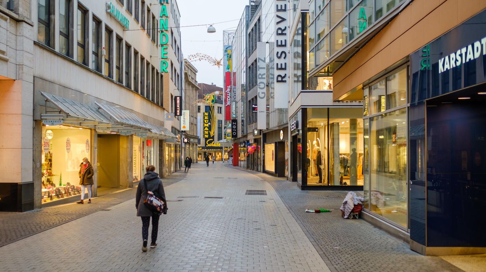 Symboldbild leere Innenstadt