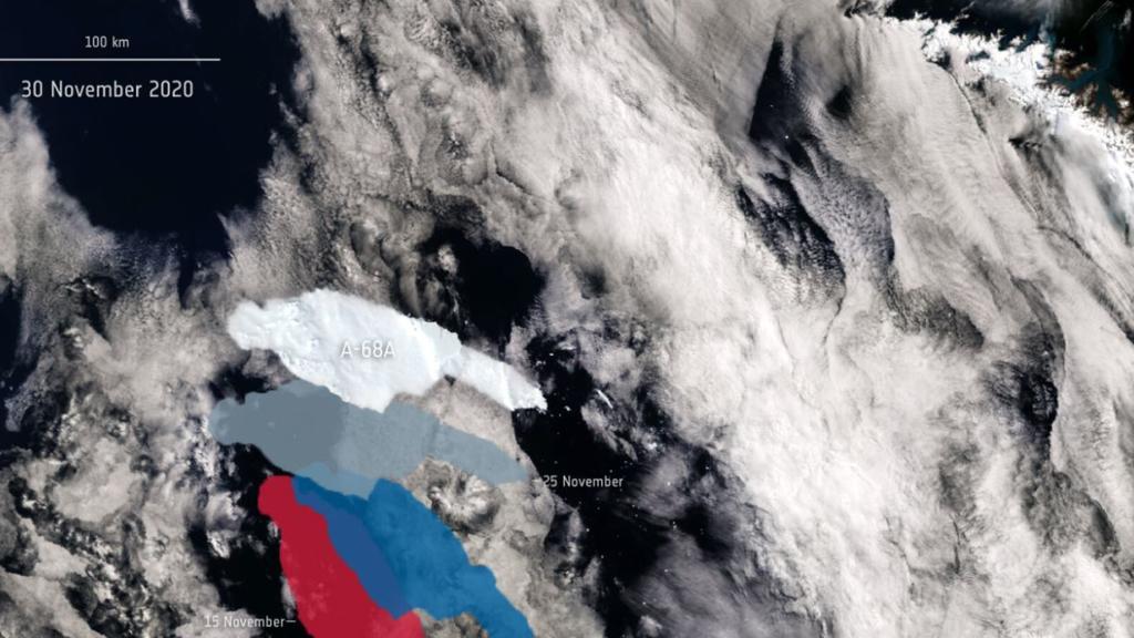 Der Eisberg ist nur noch wenige hundert Kilometer von Südgeorgien entfernt