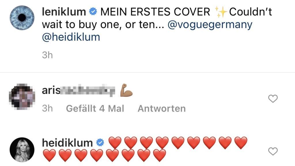 Leni Klum bekommt diese Nachricht von ihrem Freund.