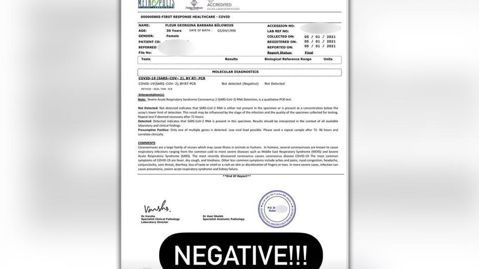 Corona-Entwarnung dank negativem Testergebnis.